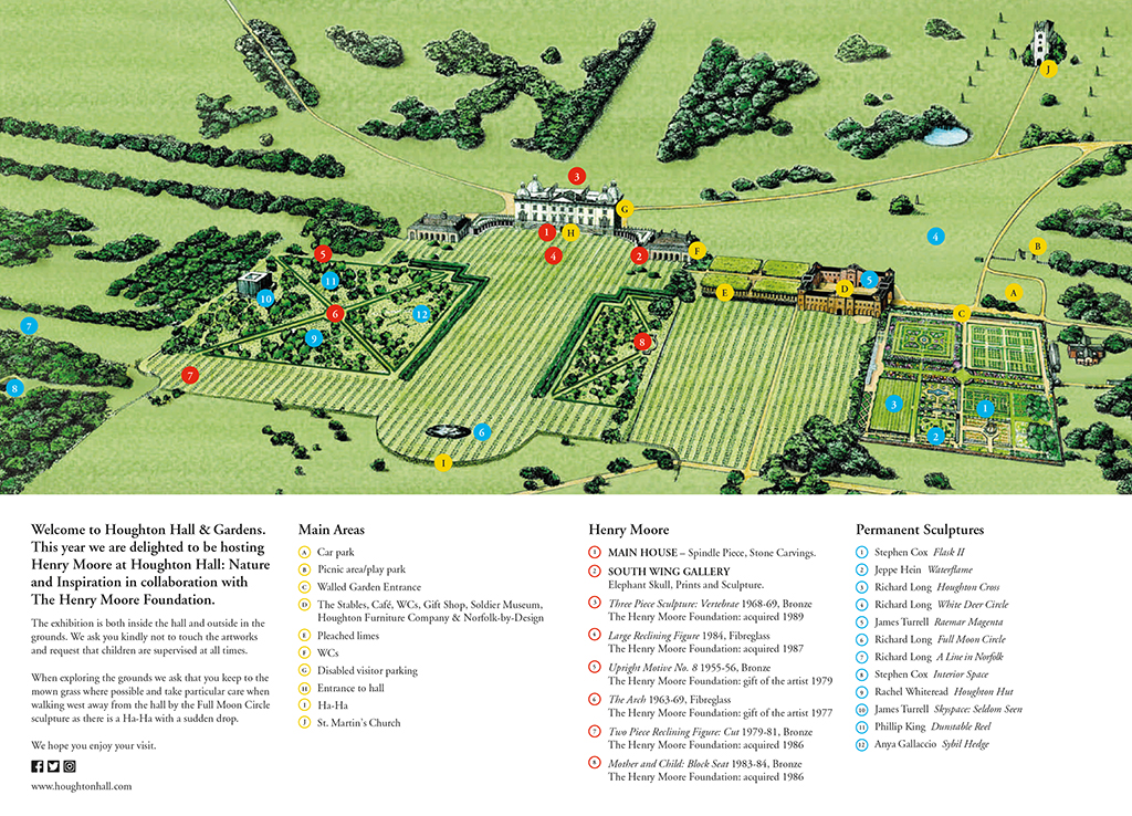 Map of Grounds – Houghton Hall