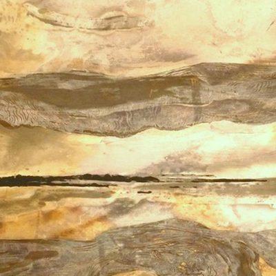 Sunrise - verre eglomise by Amanda Sutton