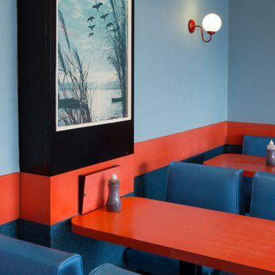 Retro Diner interior, Hemsby, Norfolk by Debby Besford